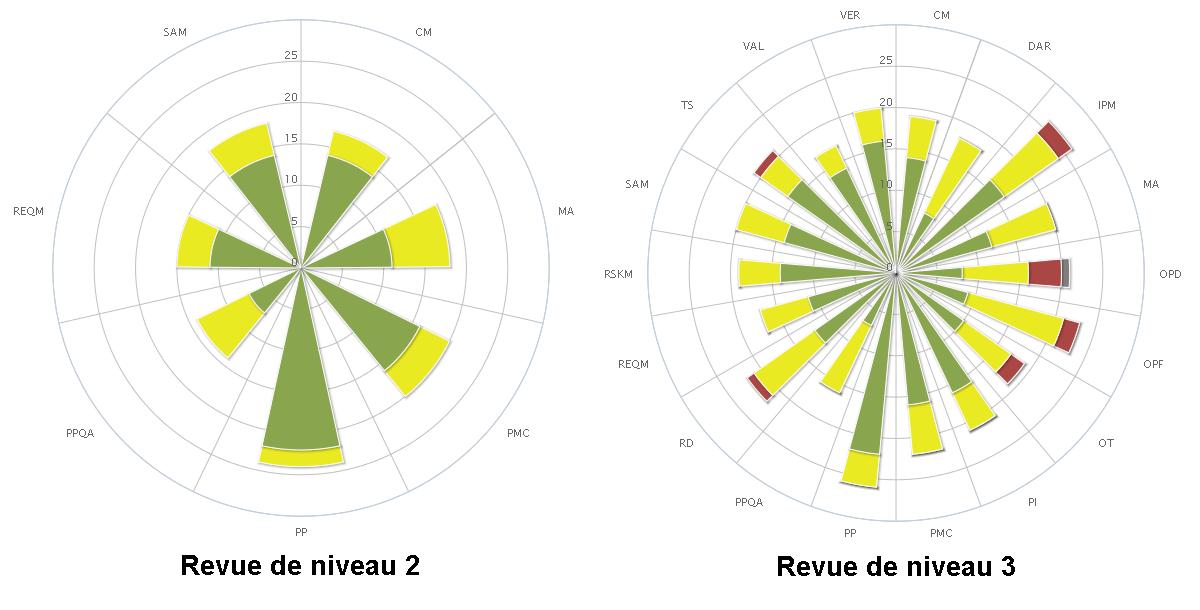 Exemples de revue CMMi de niveau 2 et 3 sous Kalisseo