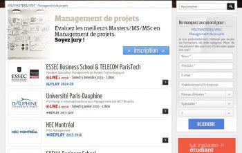 Campus Channel pour évaluer des MS/Masters/MSc Management de projets 20