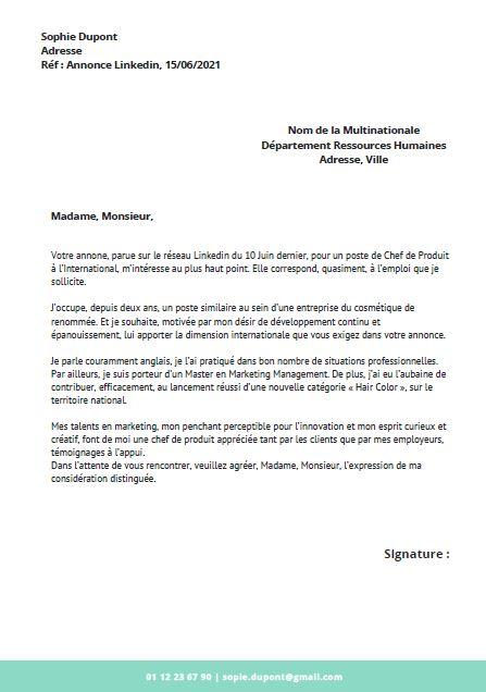 lettre de motivation projetprofessionnel